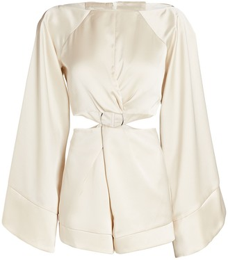 Significant Other Dusk Satin Cut-Out Romper