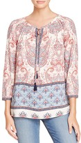 Daniel Rainn Printed Keyhole Top