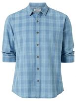 Jeanswest Dorian Long Sleeve Check Shirt-Indigo Multi-XS