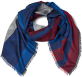 Kenzo Jaquard Tiger Head Scarf Red/White/Blue