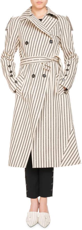 Altuzarra Striped Cotton Trench Coat