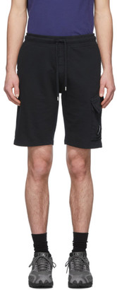 C.P. Company Black Light Fleece Bermuda Cargo Shorts