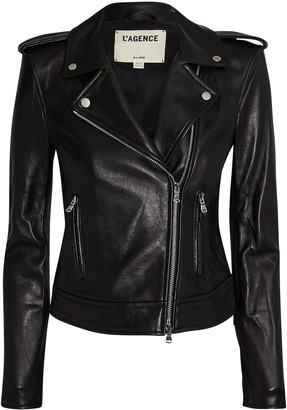L'Agence Leather Moto Jacket