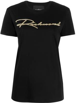 John Richmond sequin logo T-shirt