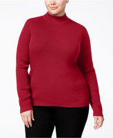 Karen Scott Plus Size Mock-Neck Sweater, Only at Macy's