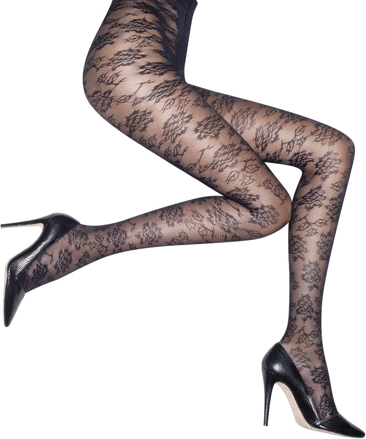 Alice + Olivia Floral Lace Tights by Pretty Polly