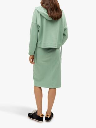 MANGO Cotton Drawstring Midi Skirt