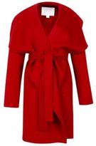 Hugo Boss Catifa Wool Cashmere Shawl Collar Coat 4 Red