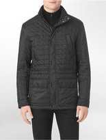 Calvin Klein Quilted Faux Leather Detail 4-Pocket Jacket