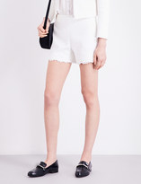 Claudie Pierlot Emilia lace-trimmed tweed shorts