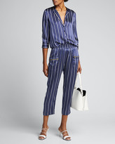 L'Agence Leigh Drapey Striped Cargo Pants