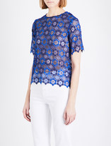 Sandro Floral guipure-lace top