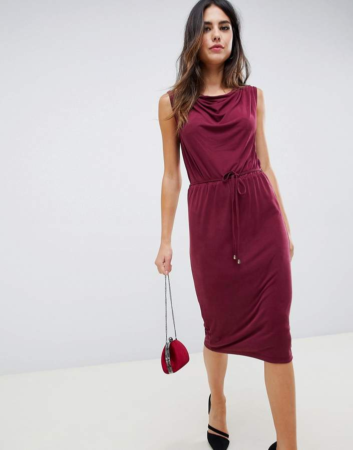 Oasis drape midi dress