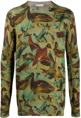 Etro Duck-Print Sweatshirt