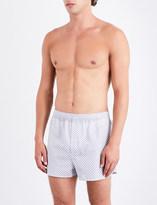 Derek Rose Micro floral modern-fit cotton-woven boxers