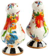 Mackenzie Childs White Flower Market Salt & Pepper Shakers