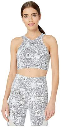 New Balance Evolve Printed Halter Crop (Moon Dust) Women's Clothing