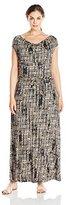 Calvin Klein Women's Plus-Size Cowl-Neck Maxi Dress