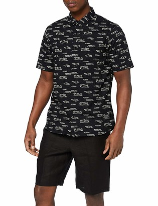 Scotch & Soda Men's Regular Fit-All-Over Printed Shortsleeve Shirt Casual