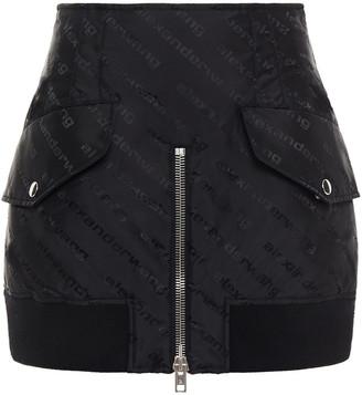 Alexander Wang Zip-detailed Jacquard Mini Skirt
