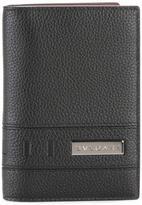 Bulgari metallic plaque bi-fold wallet