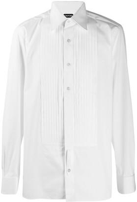 Tom Ford pleated bib shirt