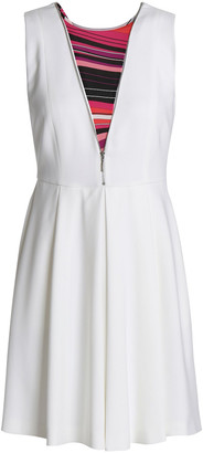 Emilio Pucci Paneled Zip-detailed Crepe Mini Dress