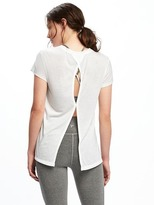 Old Navy Go-Dry Cool Ultra-Light Keyhole-Back Top for Women