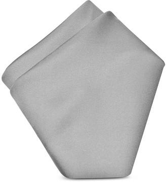 Forzieri Grey Silk Pocket Square