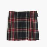 J.Crew Girls' pleated skirt in tartan wool flannel
