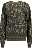 Just Cavalli Oversized Printed Cotton-Terry Sweatshirt
