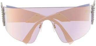 Fendi Eyewear FFreedom mask-shaped sunglasses