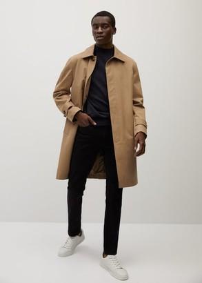 MANGO MAN - 100% merino wool washable sweater dark navy - S - Men