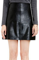 Vince Camuto Solid A-Line Pleather Skirt