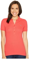 Lacoste Short Sleeve Slim Fit Stretch Pique Polo Shirt Women's Short Sleeve Knit