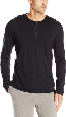 Hanro Men's Harrison Button Tab Lounge Shirt