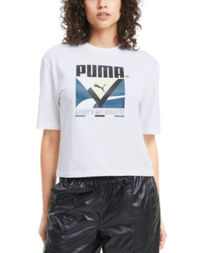 Puma Women's Cotton Logo-Graphic T-Shirt