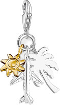 Thomas Sabo Summer Fun 18ct gold-plated and sterling silver charm