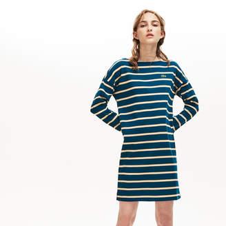 Lacoste Women's Ribbed Cotton Sailor Dress