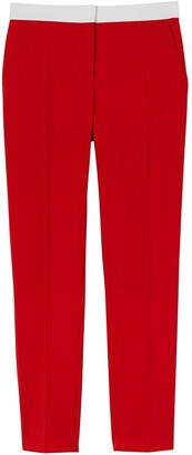Burberry Two-Tone Wool Tailored Trousers