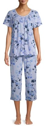 Secret Treasures Women's and Women's Plus Traditional Short Sleeve 2-Piece Pajama Set