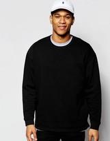 Asos Sweatshirt With Fixed Hem In Black