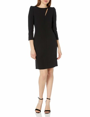 Emporio Armani Women's Cocktail Dress with Asymmetric Keyhole Neckline