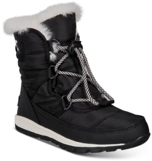 Sorel Youth Unisex Whitney Short Lace Boots Women's Shoes