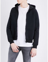 Sandro Hooded cotton-blend jacket