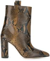 Paris Texas Snake Print Ankle Boots