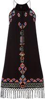 Biba Embellished halter neck tassel dress