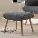 Baxton Studio Nola Upholstered Ottoman in Grey