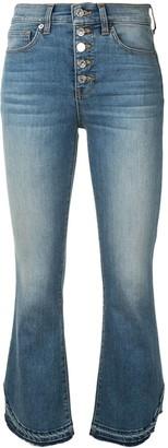 Veronica Beard Cropped Flare Leg Jeans