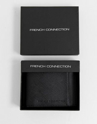 French Connection saffiano wallet-Black
